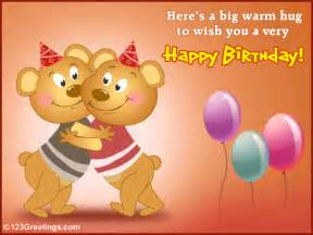 birthday hug free for your friends ecards greeting cards 123 greetings