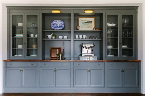 built in dining room cabinets gray built in dining room built ins with brass