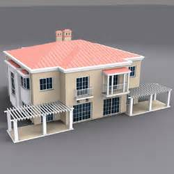 Home Frient Desince Of Models Exterior Building House 3d Model