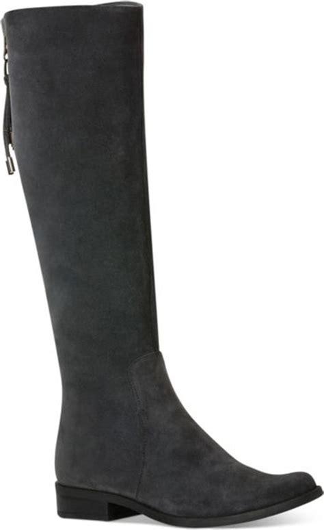calvin klein taylin wide calf boots in gray grey