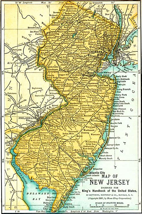 physical map of new jersey new jersey