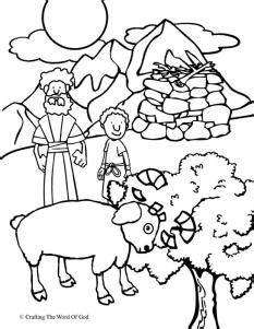 abraham sheep coloring page abraham offers isaac coloring page 171 crafting the word of god