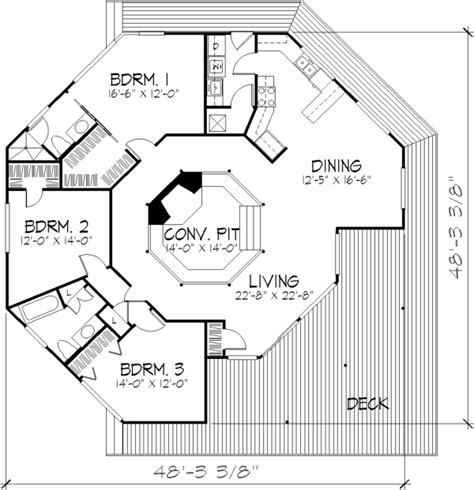 Octagonal House Plans by The Columbia 1400 3 Bedrooms And 2 5 Baths The House