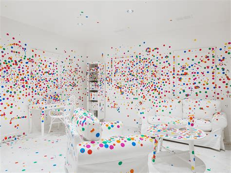 Stickers For Walls yayoi kusama brings dotted obliteration room to new york