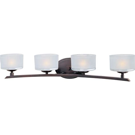 home bath vanity lights maxim lighting elle 4 light oil rubbed bronze bath vanity