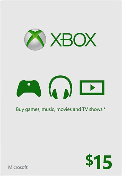 15 Xbox Gift Card - microsoft 15 xbox gift card green xbox live currency 15 best buy