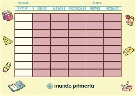 Calendario A Colegios Horarios Escolares Para Ni 241 Os De Primaria