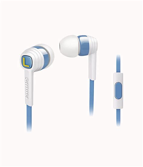 Philips Earphone With Mic She 3855 Bl Blue philips citiscape she7050wt00 in ear headphones white best price in india as on 2016 march 18