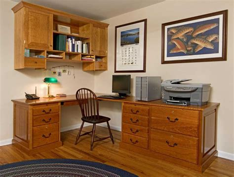 home office wall cabinets with brown color ideas
