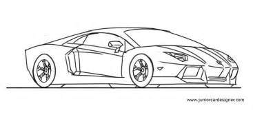 How Do You Draw A Lamborghini How To Draw A Lamborghini Aventador Step By Step Junior
