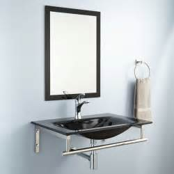 Bathroom Sink And Mirror Evander Wall Mount Glass Sink Set With Mirror Bathroom