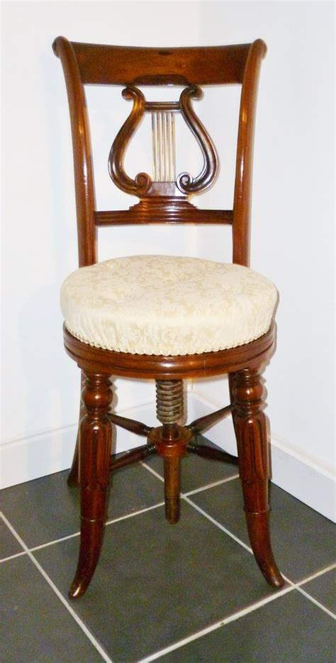 Song Chair by Cellist Or Piano Chair Antiques Atlas