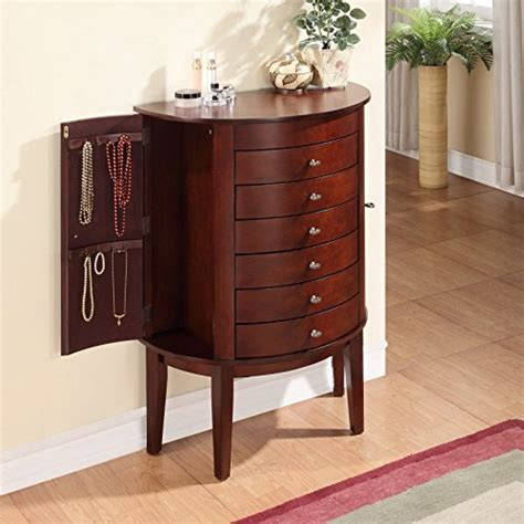 jewelry armoire mahogany antique design wall standing demi mahogany jewelry armoire