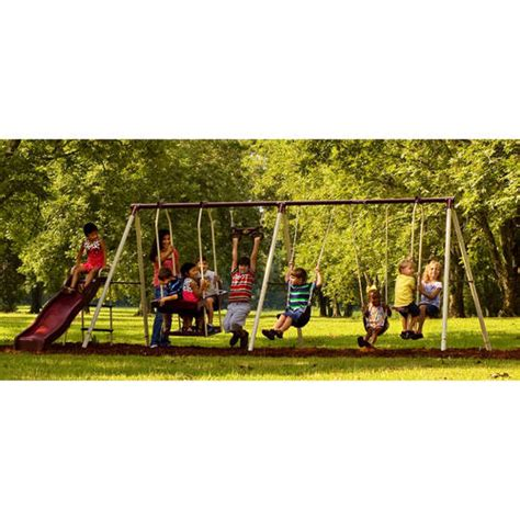 swing sets walmart flexible flyer 4660t play park metal swing set from