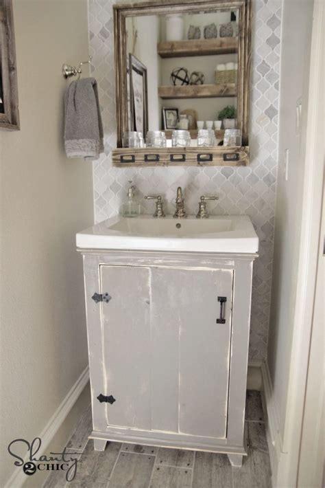 diy small bathroom vanity diy bathroom vanity shanty 2 chic