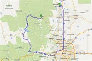 alternate routes to get to estes park detour map