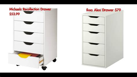 ikea drawer dupe recollection drawers