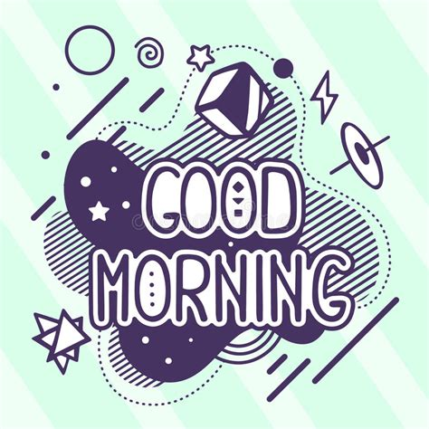 vector illustration  retro color good morning quote stock vector image