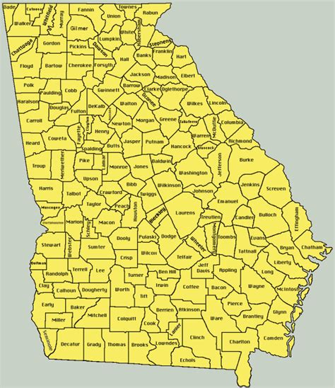 County Ga Search Map Ga Counties