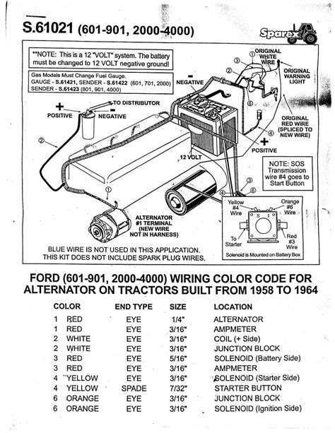 12 volt ford tractor wiring diagram wiring diagram with