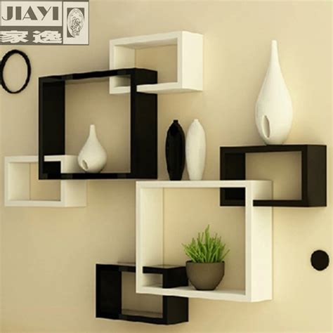 living room wall shelf home yat simple modern wall shelving racks triples creative living room wall decoration backdrop