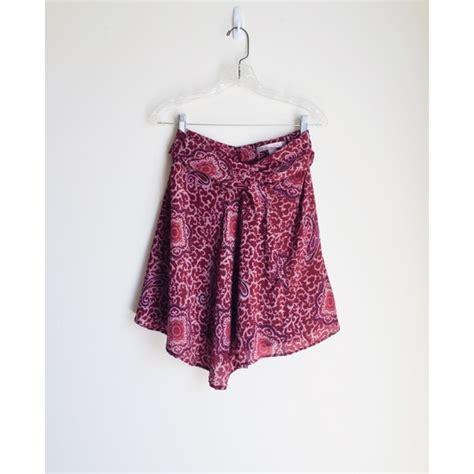 27 forever 21 dresses skirts silk maroon paisley