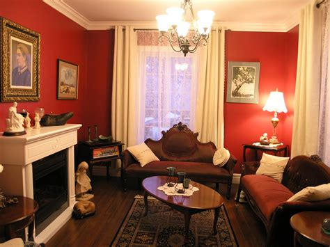 brown and white home decor victorian living room ideas homesfeed with red wall white
