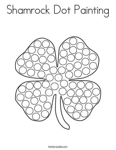 free printable dot to dot shamrock shamrock dot painting coloring page twisty noodle