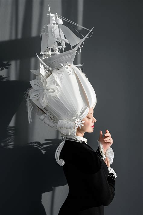 How To Make A Paper Costume - asya kozina crafts intricate baroque wigs from paper