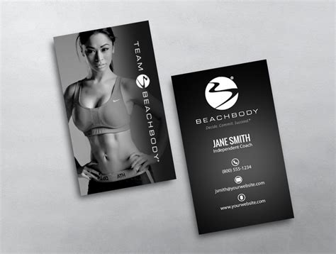 vistaprint beachbody card template beachbody business card 09