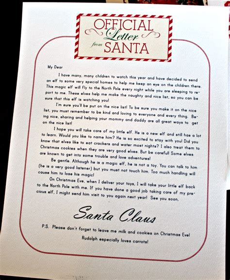 A Shelf Letter From Santa thistle november 2012