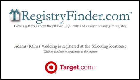 Target Wedding Registry Card Template by Finding The Gift Is A Of Cake Plus A 50