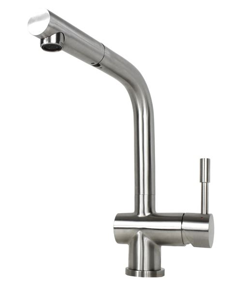 solid stainless steel single handle kitchen faucet with pull out sprayer head ebay ariel flamingo solid stainless steel lead free single
