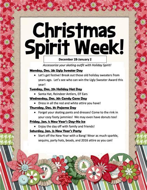 spirit week and schedule