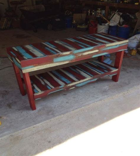 pallets colored benches and tables my decor home