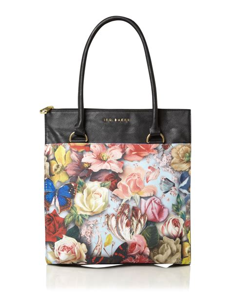 Ted Baker Canvas Printed Tote Bag by Ted Baker Maypo Floral Canvas Tote In Floral Multi