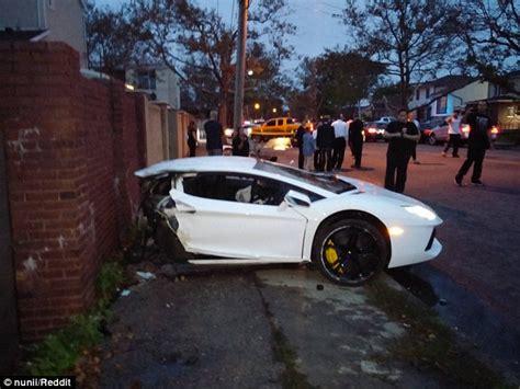 miami vice boat accident lamborghini aventador sliced in half in brooklyn car crash
