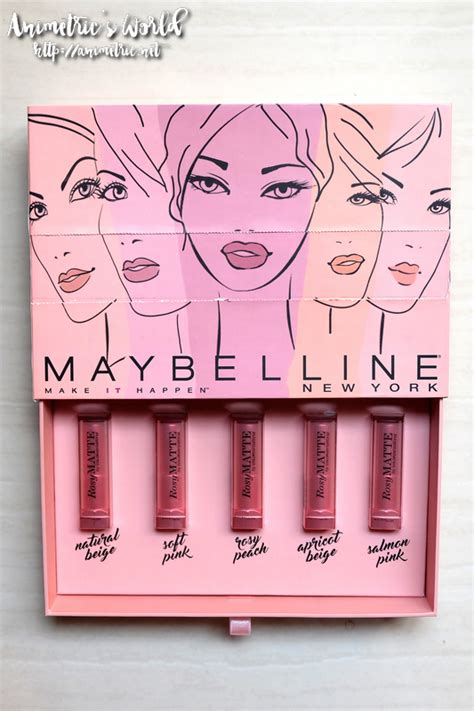 Maybelline Rosy Matte Salmon Pink maybelline rosy matte lipstick review animetric s world