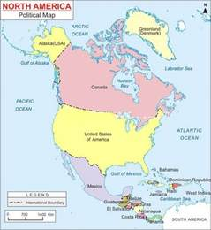 america political map america continent physical map
