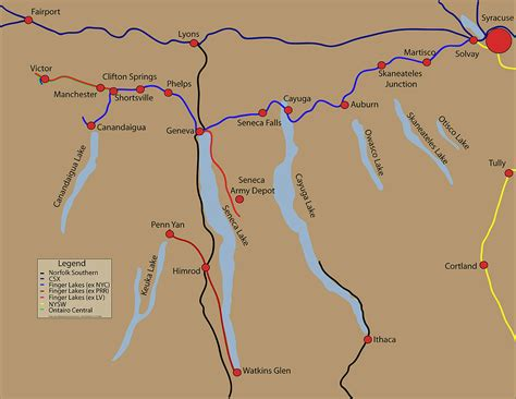 map of the finger lakes finger lakes railway