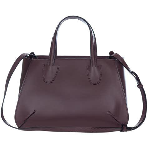 Tote Bag 549 gianni chiarini italian made mocha brown leather structured tote bag