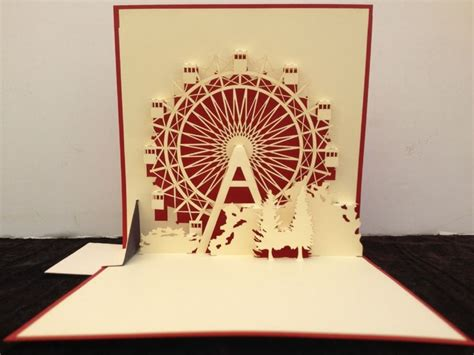 Ferris Wheel Pop Up Card Template by Ferris Wheel Pop Up 3d Book Paper Origami