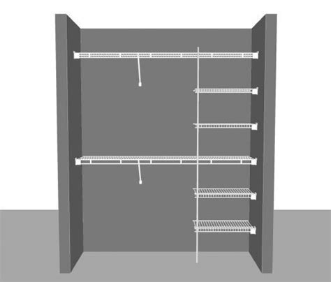 Wire Closet Shelving With Clothes Rod 45 Best Images About Closetmaid Shelving On