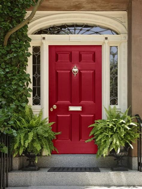 red front doors bloombety decorating front door red paint colors front