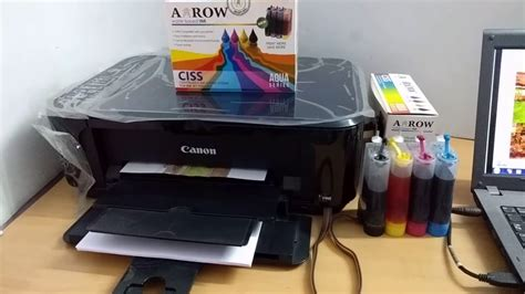 Tinta Printer Canon E510 arow ciss demo on canon e510 printer