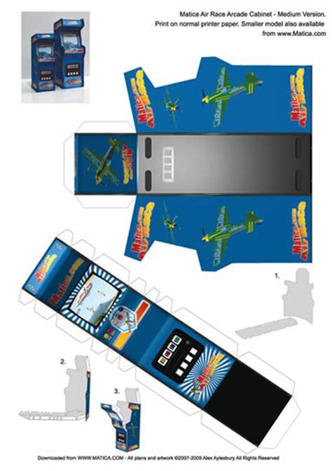 Arcade Papercraft - pac arcade machine paper crafts