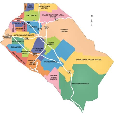 Map Of Orange County | map of orange county ca city information