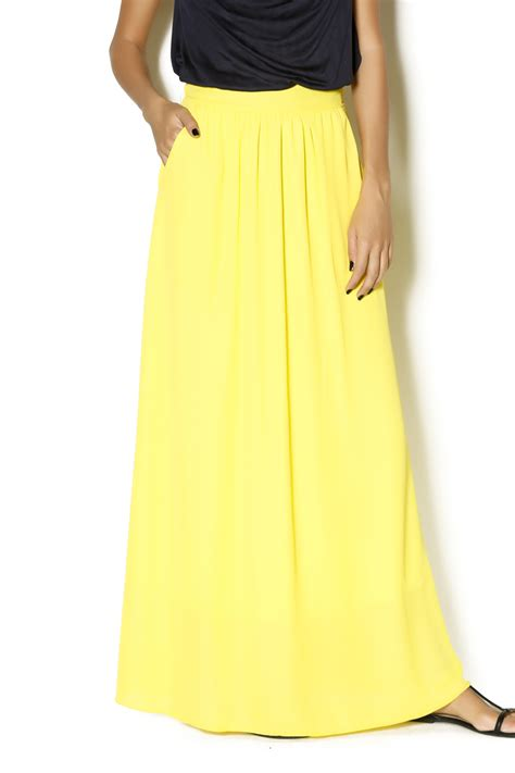 nymphe yellow maxi skirt from mississippi by the snooty