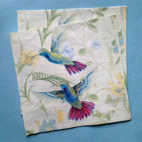 Decoupage Serviettes - 2 x decoupage paper napkins 33 33cm 3 ply wedding paper