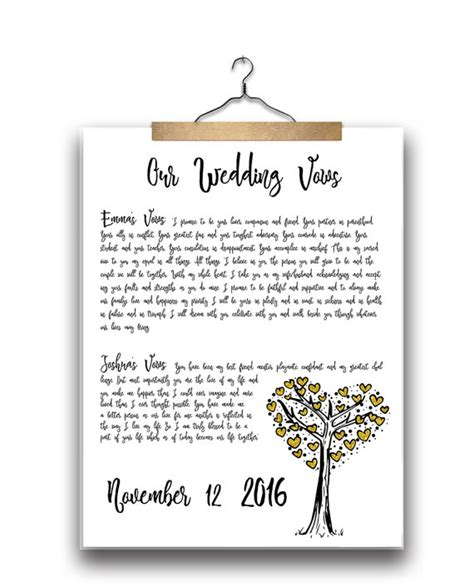 Personalizing Your Wedding Vows by Your Wedding Vows Printable Personalized By Littletigerdesigns
